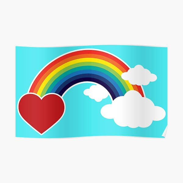 Rainbows, Hearts Clouds! Poster