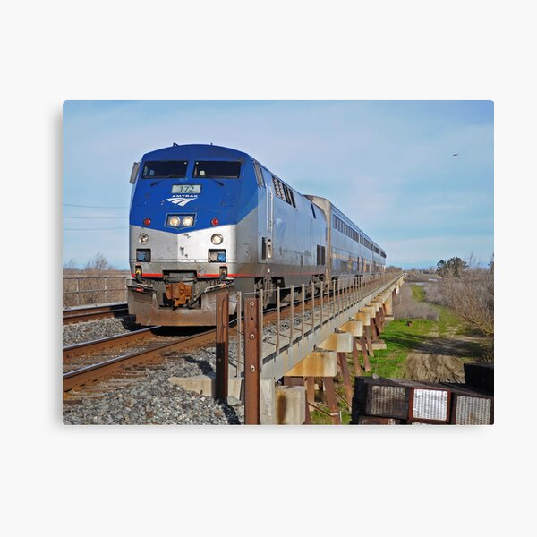 Canvas Amtrak Southwest Chief on New Mexico Rails Art print POSTER