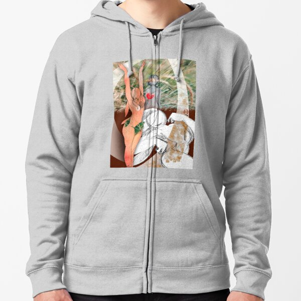The Second Photomontage Zipped Hoodie