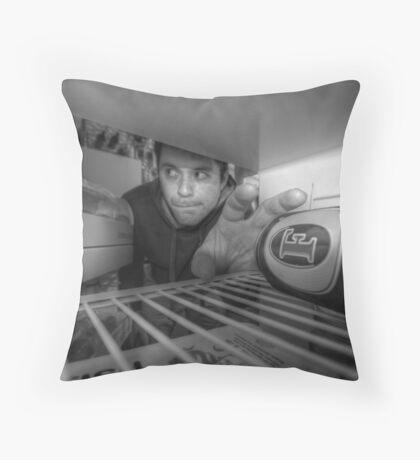 The Fridge Raider Throw Pillow