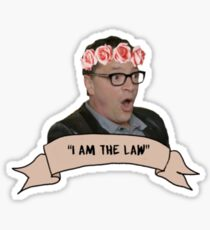 """I am the law"" David Rosen Sticker"