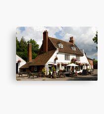Traditional old British Pub Canvas Print
