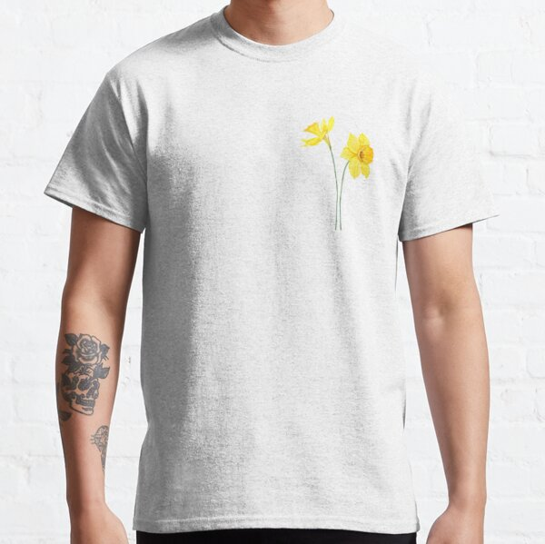 yellow daffodils watercolor painting Classic T-Shirt