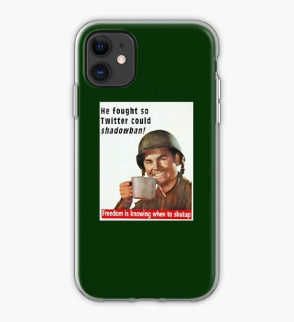 He Fought for Twitter Shadowbans iPhone Case
