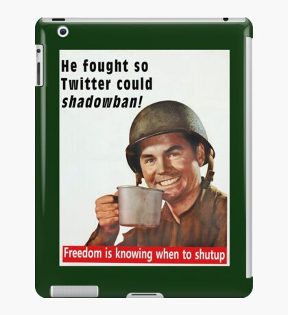 He Fought for Twitter Shadowbans iPad Case/Skin