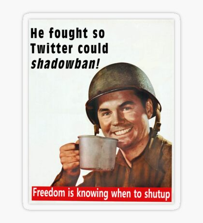 He Fought for Twitter Shadowbans Transparent Sticker