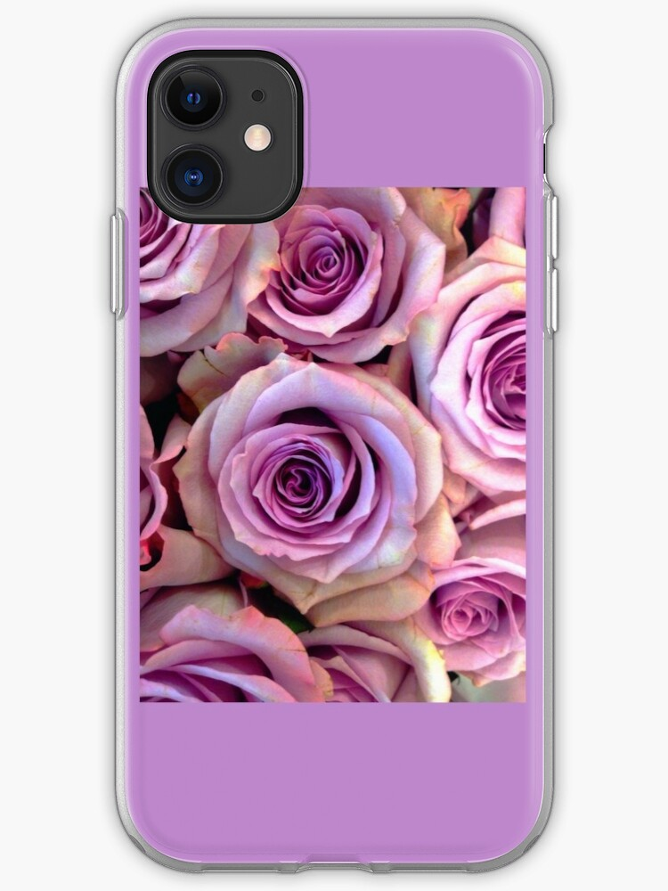 Purple Rose Wallpaper Iphone Case Cover By Aeimake Redbubble