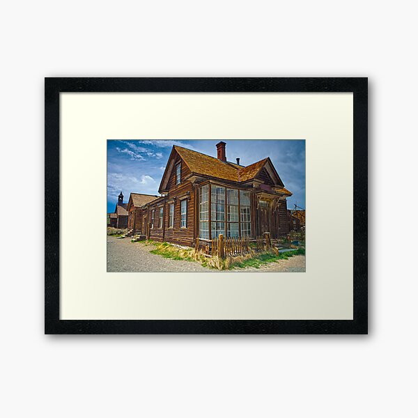 Bodie CA Our House In The Middle Of our Street Framed Art Print
