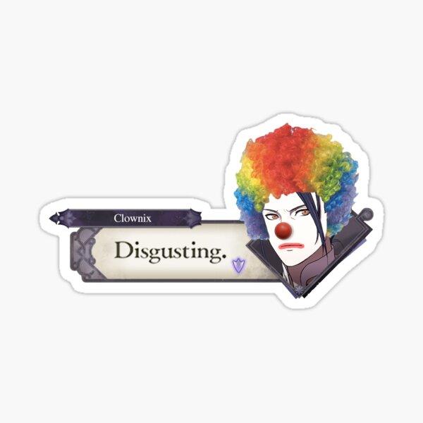 Clown Felix - Disgusting (FE3H) Sticker
