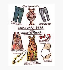 Pregnancy: Cupboard Bear on What to Wear Photographic Print