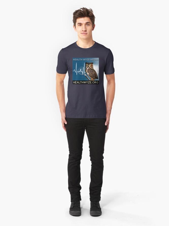 Alternate view of Health Wyze Media Slim Fit T-Shirt