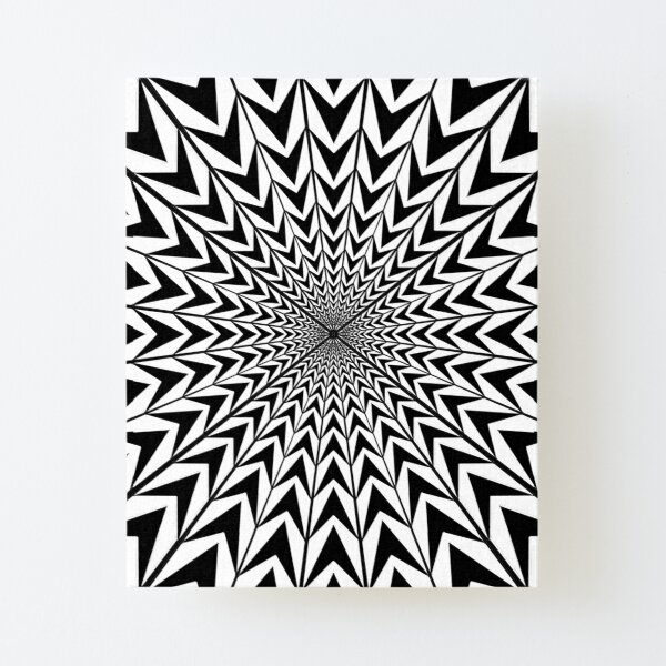 #Design, #abstract, #pattern, #illustration, psychedelic, vortex, modern, art, decoration Canvas Mounted Print