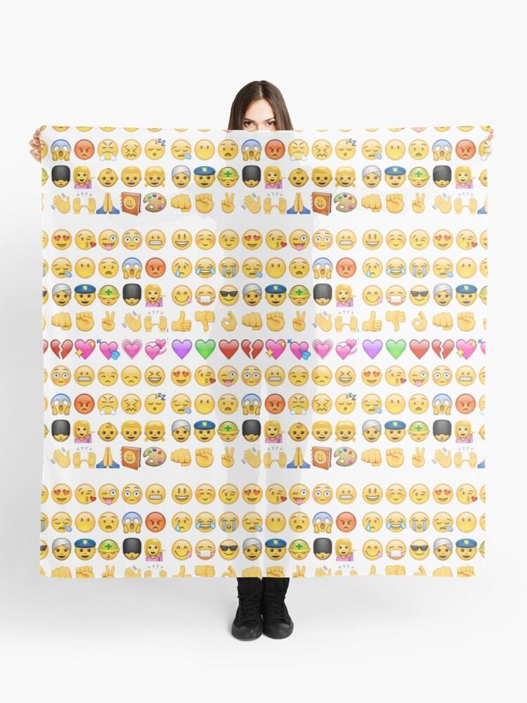 Foulard Emoji Imprimer Par Brzt Redbubble