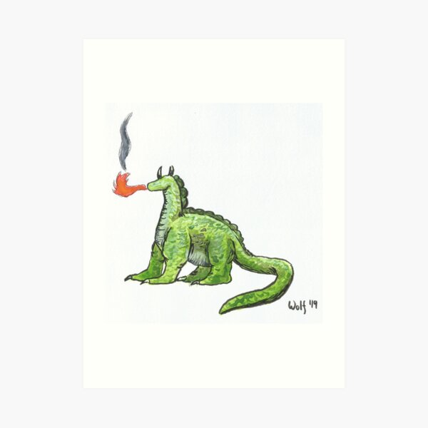 Inktober 2019 #12: Dragon Art Print