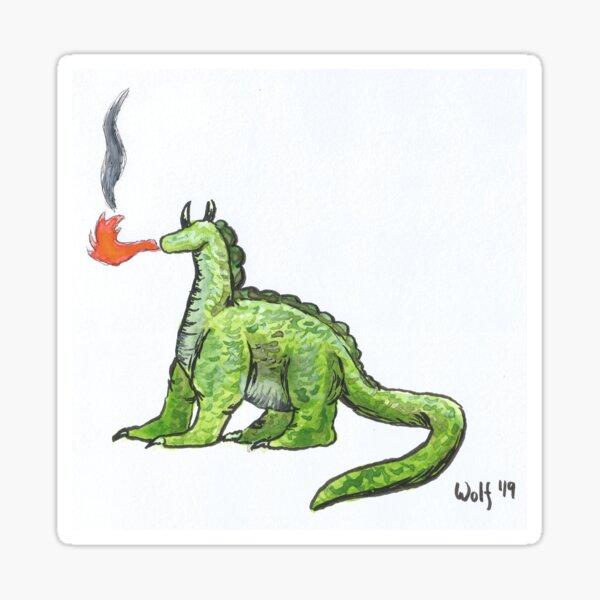 Inktober 2019 #12: Dragon Sticker