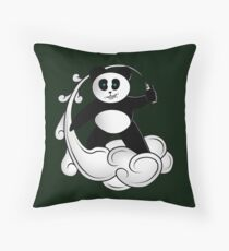 Vape Panda II Throw Pillow