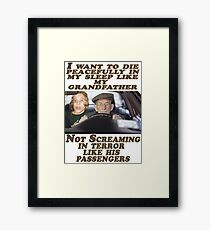 Geriatric Drivers Framed Print