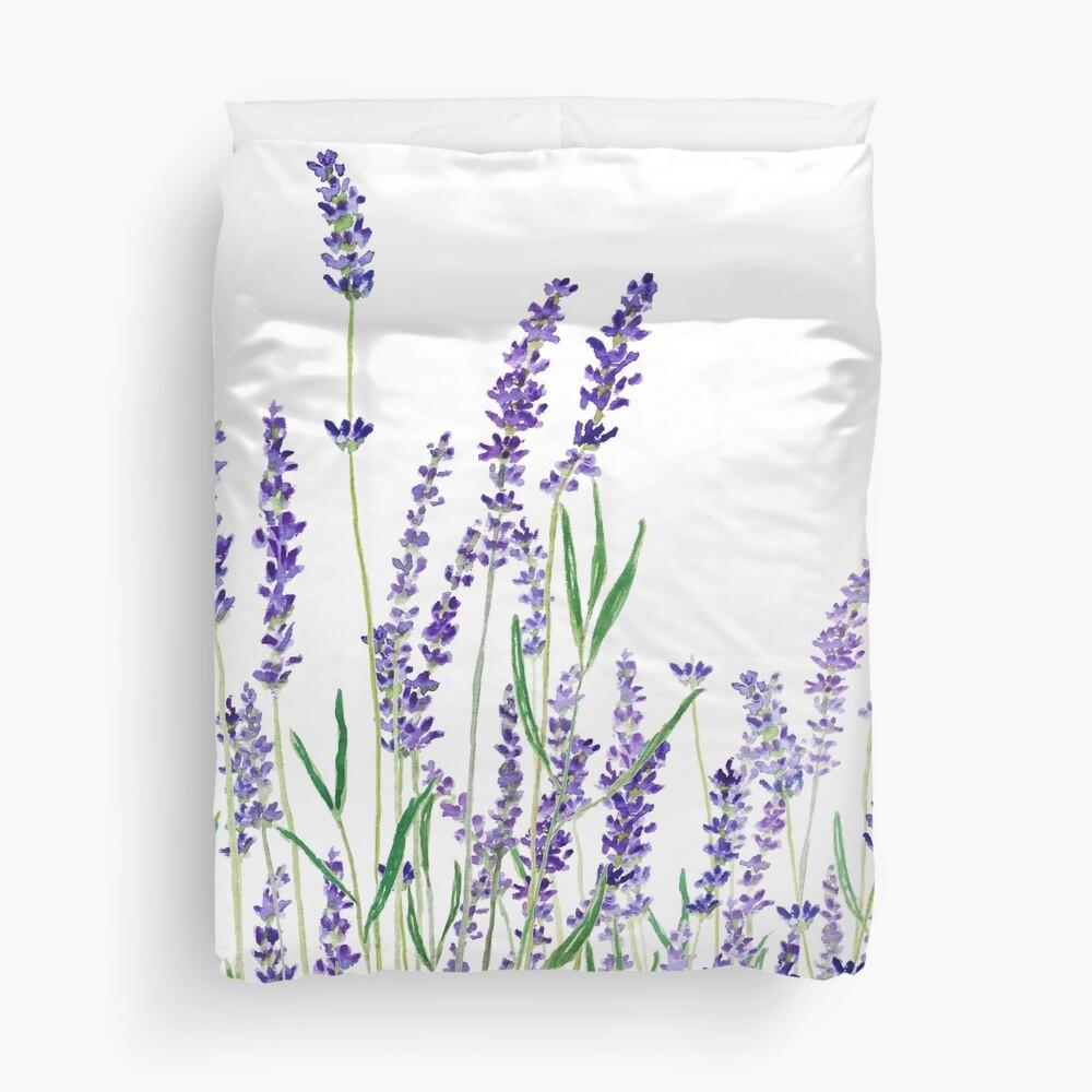 purple lavender  Duvet Cover