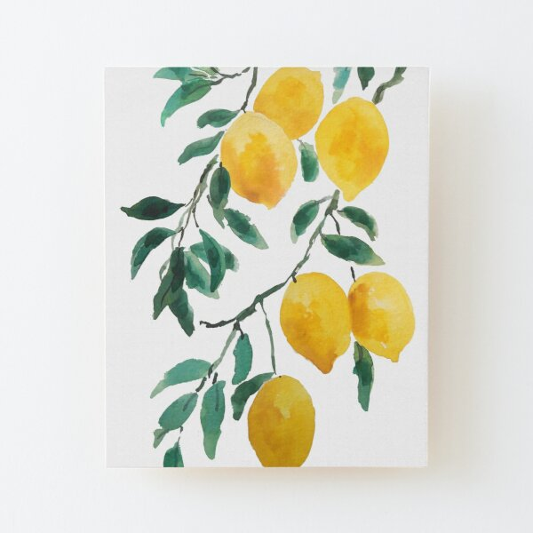 yellow lemon 2018 Wood Mounted Print