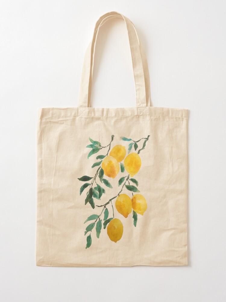 Alternate view of yellow lemon watercolor  Tote Bag