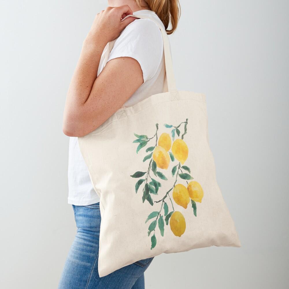 yellow lemon watercolor  Tote Bag