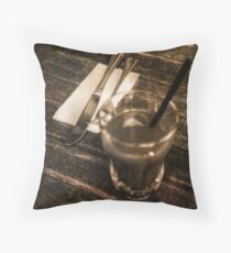 Lunch at Pinocchios North Carlton Throw Pillow