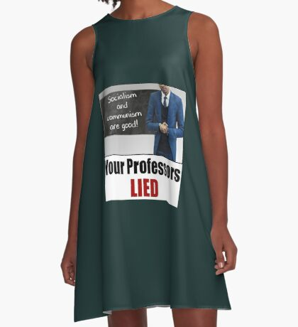 Your Professors Lied About Socialism A-Line Dress