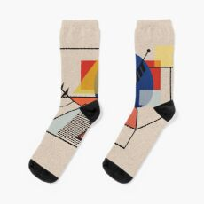 Midcentury Modern Abstraction Socks