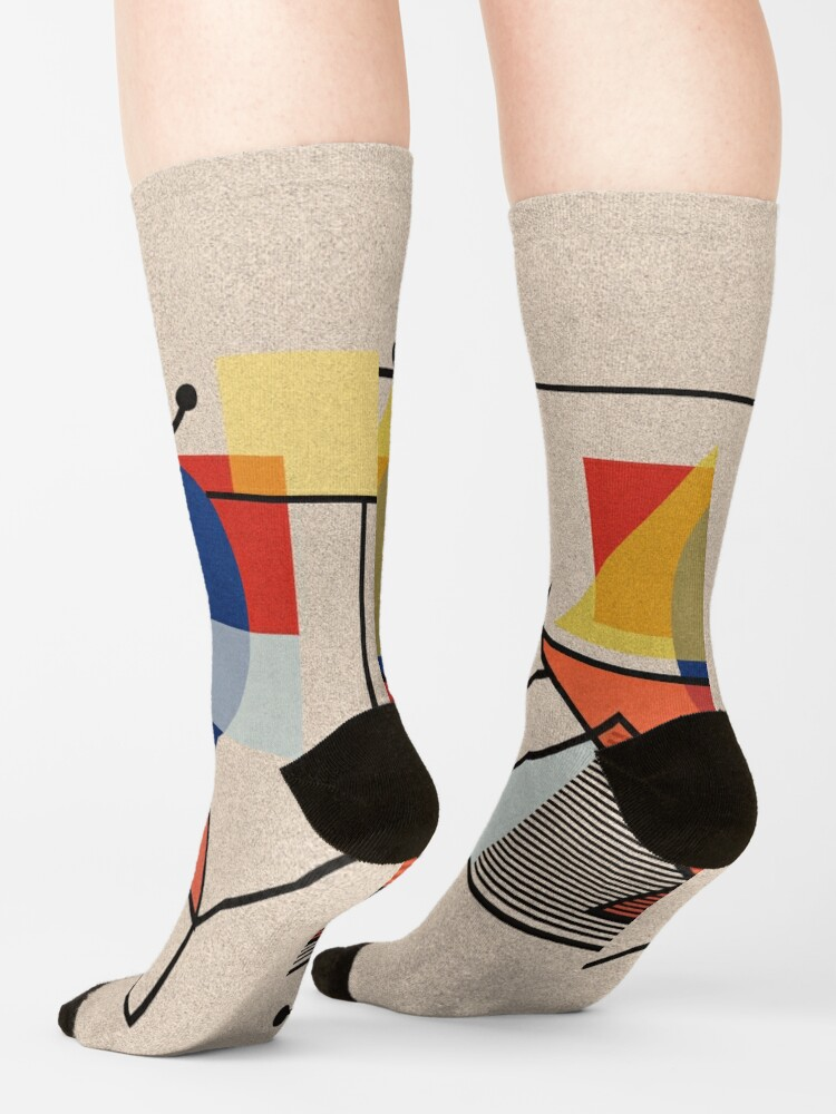 Alternate view of Midcentury Modern Abstraction Socks