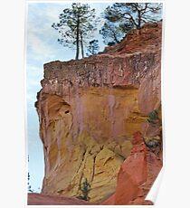 Ocher cliffs Poster