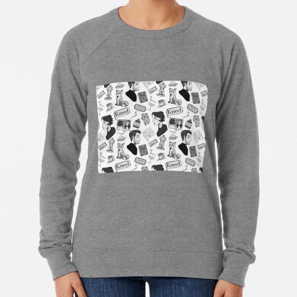 Fleabag (Pheobe Waller Bridge) + Hot Priest Surface Design Repeat Pattern (Black and White Version) Lightweight Sweatshirt