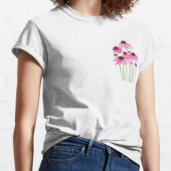pink purple coneflower watercolor  Classic T-Shirt