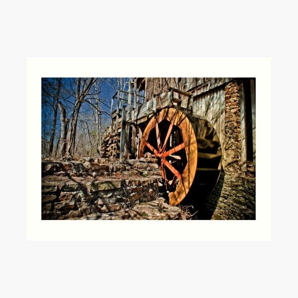 The John Wesley Hall Grist Mill Art Print