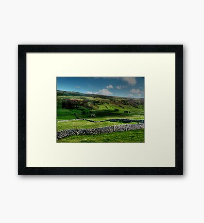 Light and Shade and Dry Stone Walls Framed Print