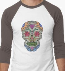 Adult Coloring - Skull Men's Baseball ¾ T-Shirt