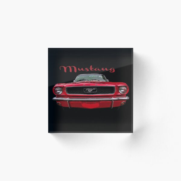 Little Red Mustang Acrylic Block