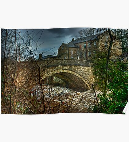 Aysgarth Bridge and The Old Mill Poster