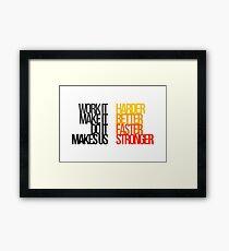 Daft Punk - Harder Better Faster Stronger Framed Print