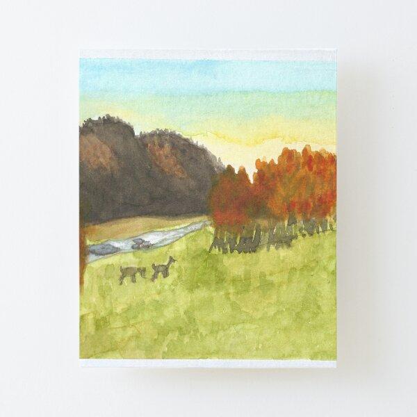Inktober 2019 #16: Wild Canvas Mounted Print