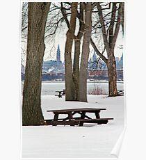 Bate's Island - Peace Tower - Ottawa Poster