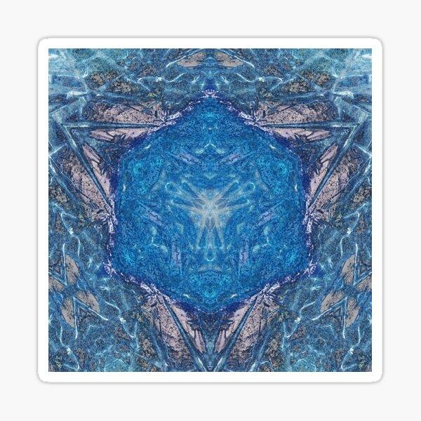Crystalline Blue 1 Sticker