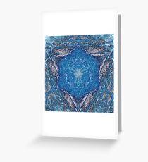 Crystalline Blue 1 Greeting Card