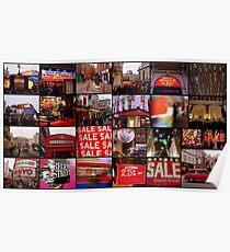 Amazing London - Big City lights  - Collage - (UK) Poster