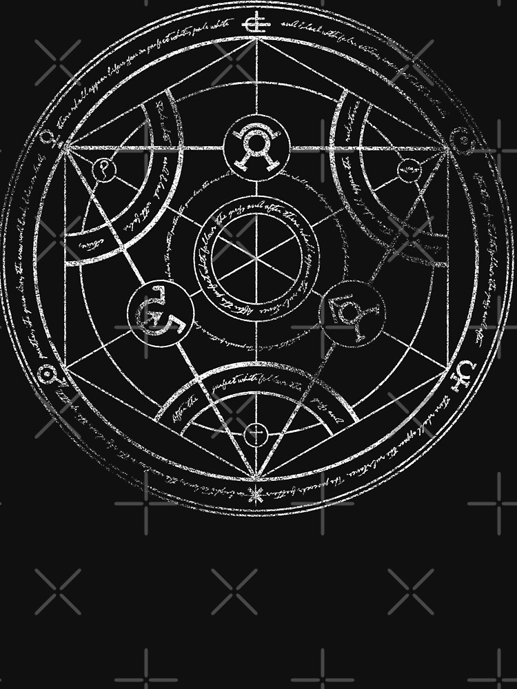 Human transmutation circle - chalk | Unisex T-Shirt