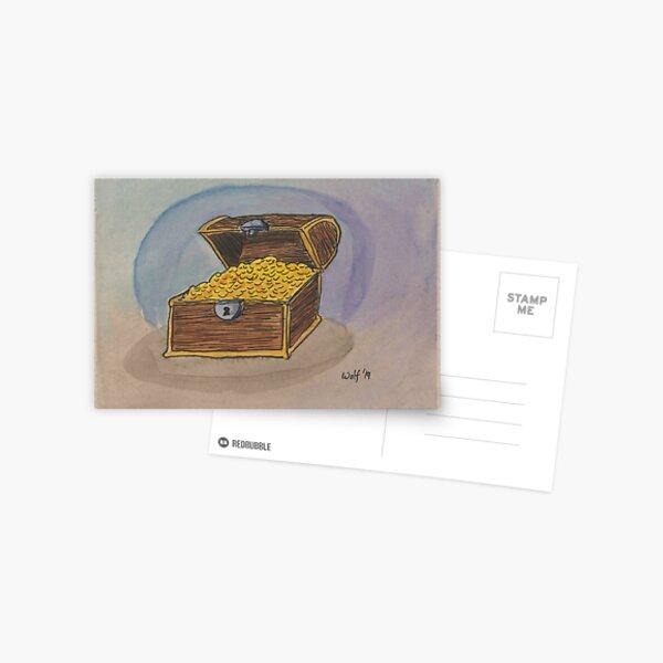 Inktober 2019 #21: Treasure Postcard