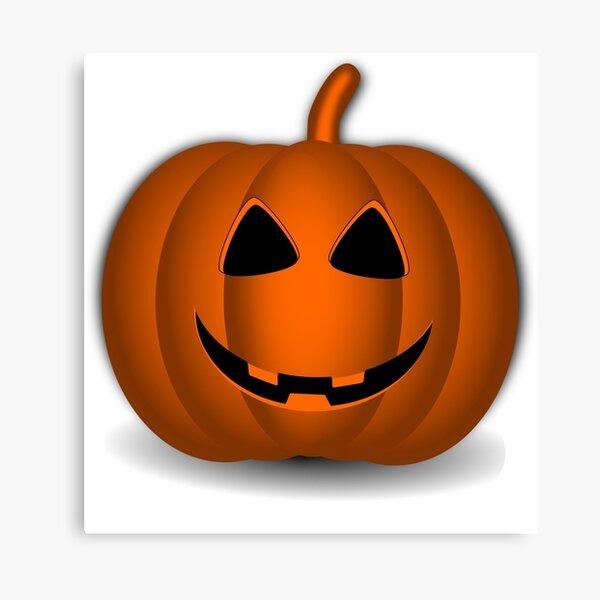 Pumpkin Halloween #halloween #pumpkin #orange #autumn #holiday #isolated #lantern #october #evil #face #jackolantern #horror #scary #jack #decoration #spooky #3d #illustration #season #smile #black Canvas Print