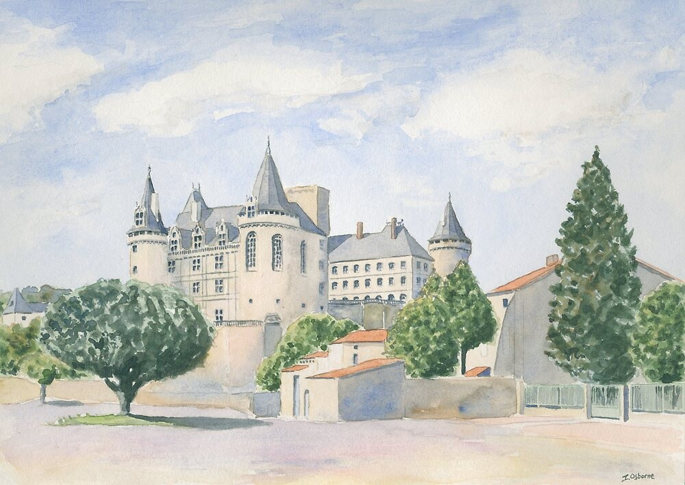 Château at La Rochefoucauld, France by ian osborne