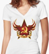 CCCP Army Women's Fitted V-Neck T-Shirt
