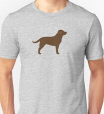Chocolate Labrador Retriever Silhouette(s) T-Shirt