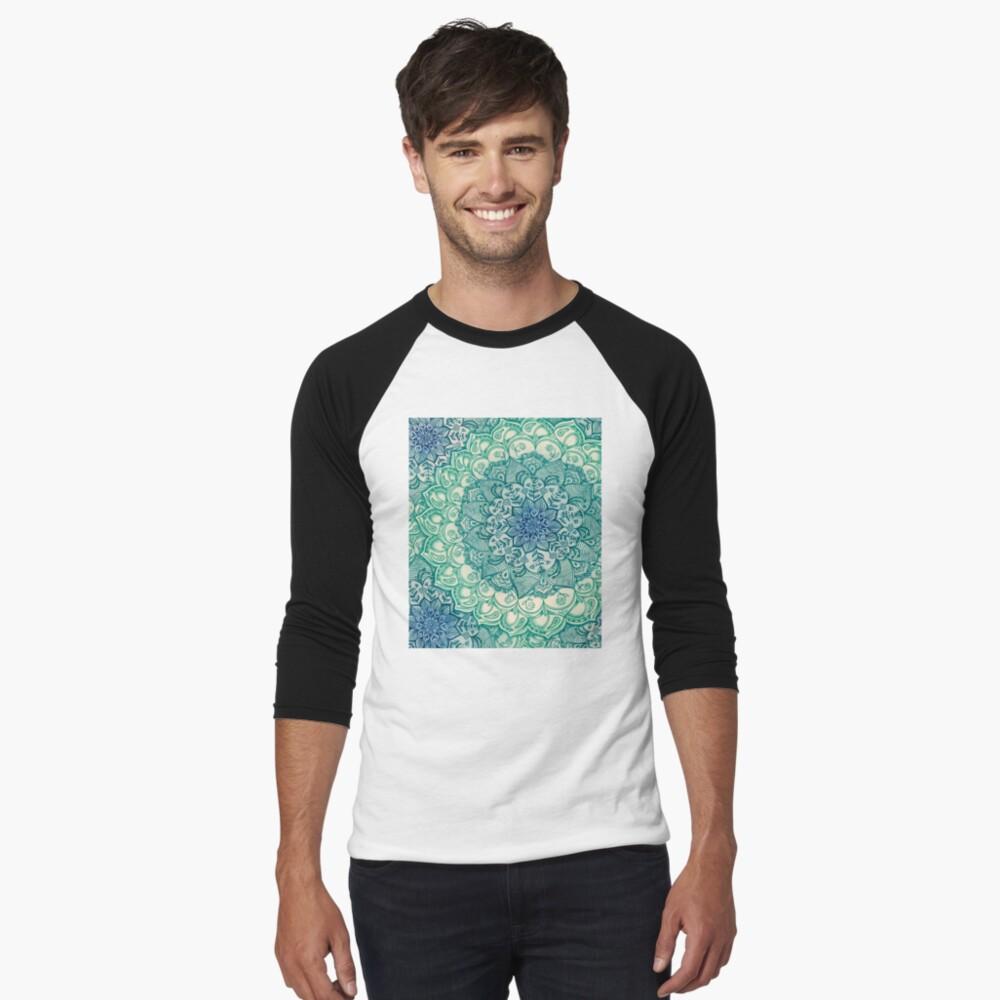 Emerald Doodle Baseball ¾ Sleeve T-Shirt